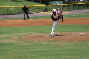 Devin Sweet delivers pitch.