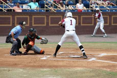 NCCU sophomore Carter Williams, bottom of 1st.