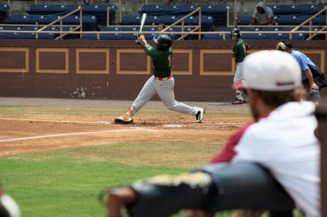 FAMU's Brian Davis takes big swing.